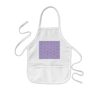 Daisy Flowers Purple Pattern Kids Apron