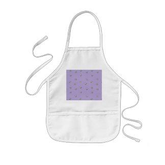 Daisy Flowers Purple Pattern Kids Apron