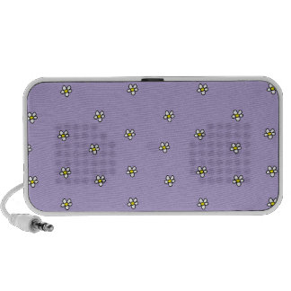 Daisy Flowers Purple Pattern Mp3 Speaker