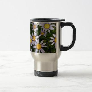 Daisy Flowers, White Yellow Flower, Nature Daisies Stainless Steel Travel Mug