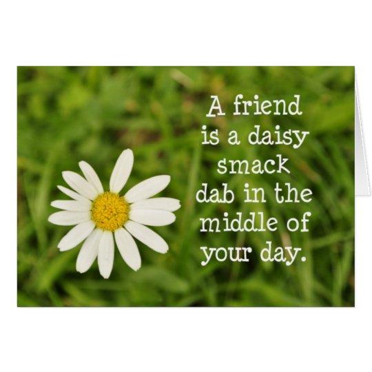 Daisy Friend Card