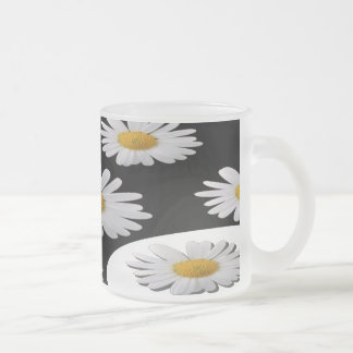 Daisy Frosted Glass Coffee Mug