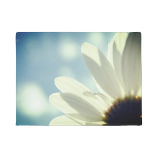 Daisy Gänseblümchen of blue skies summer motive Doormat