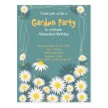 Daisy Garden Birthday Party Invitation 2 Postcards