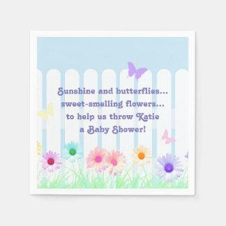 """""""Daisy Garden"""" - poem Disposable Serviette"""