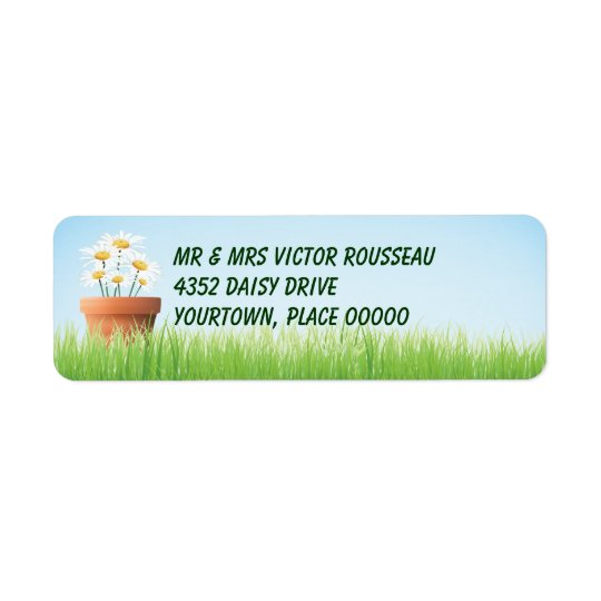 Daisy Garden Return Address Return Address Label