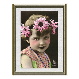 Daisy Girl Postcard