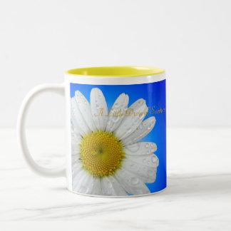 "Daisy glow ""A little drop of sunshine"" mug"