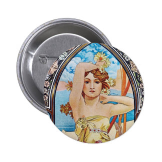 Daisy Goddess Pinback Button