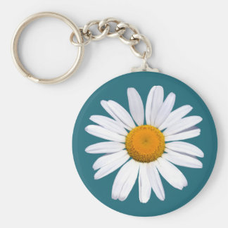 Daisy Green basic button key chain