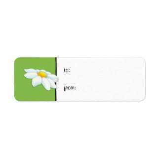 Daisy green small Gift Tag Label Return Address Label