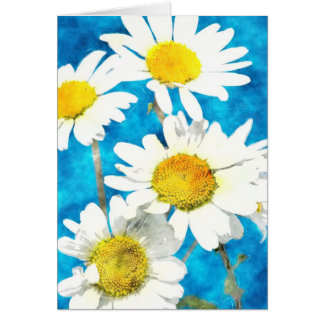 Daisy Greeting Card in watercolor