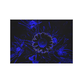 Daisy in Blue Canvas Prints