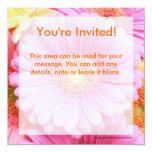 Daisy Invitations - Pink Gerber Daisy