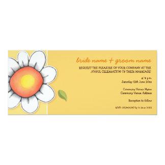 Daisy Joy yellow Long Wedding Invitation