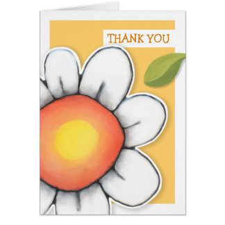Daisy Joy yellow Thank You Note Card