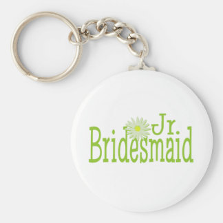 Daisy Jr. Bridesmaid Basic Round Button Key Ring