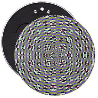 Daisy Kaleidoscope 6 Cm Round Badge