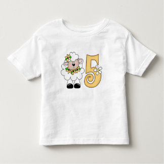 Daisy Lamb 5th Birthday Toddler T-Shirt