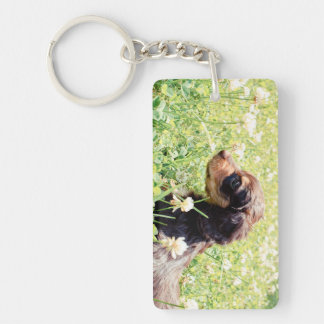Daisy & Littermates Double Photo Keepsake Key Ring