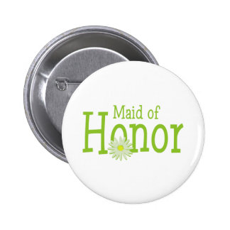Daisy Maid of Honor 6 Cm Round Badge