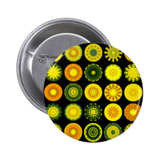 Daisy Mandalas 6 Cm Round Badge