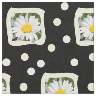 Daisy material with flower sample summery fabric