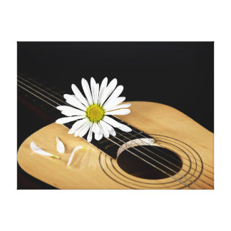 Daisy Music Stretched Canvas Prints