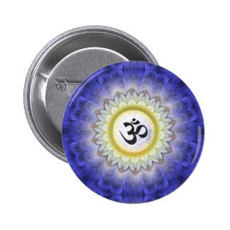 Daisy Om Mandala Button