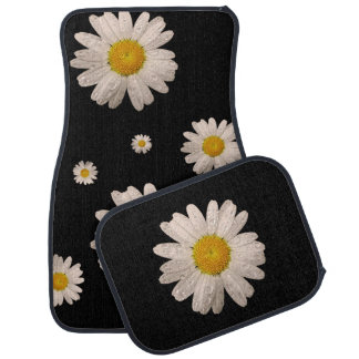 Daisy on Black Car Mats (multiple)