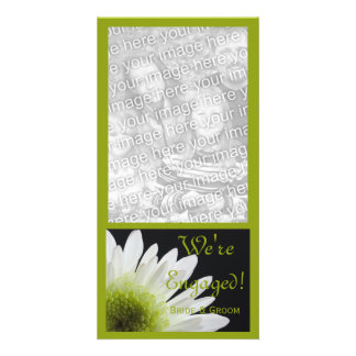 Daisy on Black Marriage Engagement Announcement Photo Card