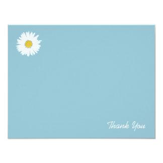 Daisy on Blue | Flat Thank You Note Card 11 Cm X 14 Cm Invitation Card