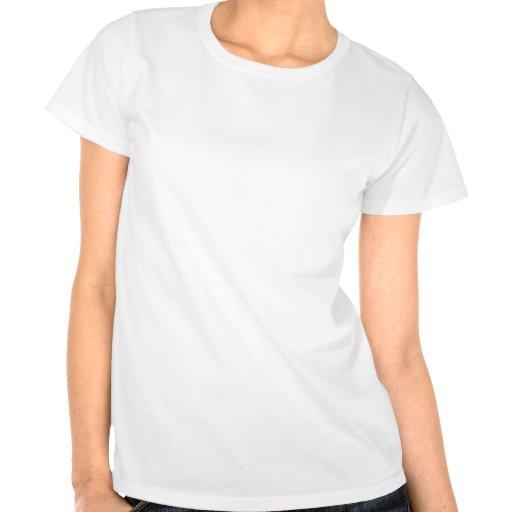 Daisy on Dark Tan Damask T-shirts