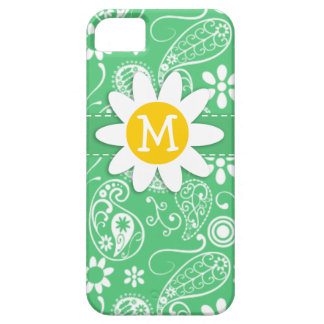 Daisy on Emerald Green Paisley iPhone 5 Cover