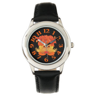 Daisy Orange Crab Wristwatches