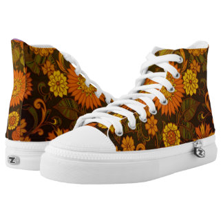 Daisy Orange Design High Tops