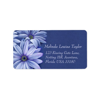 Daisy osteospermum wedding return address label