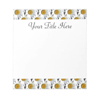 Daisy Pattern Customizable Notepad