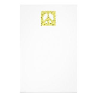 """Daisy  peace sign 5.5"""" x 8.5"""" stationery"""
