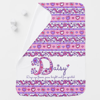 Daisy personalize name meaning baby blanket