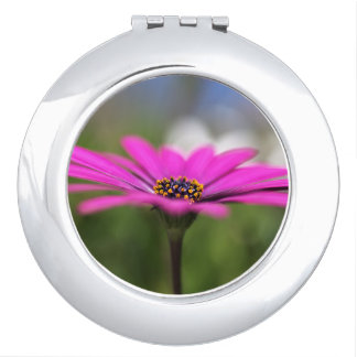 Daisy Pink Compact Mirror