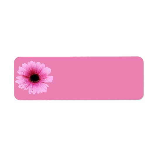 Daisy Pink Return Address Label