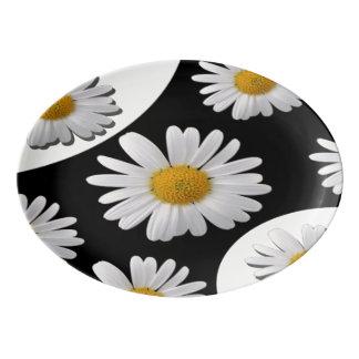 Daisy Porcelain Serving Platter
