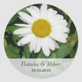 Daisy Save the Date Sticker
