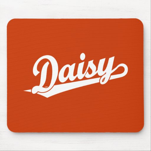 Daisy Script Logo in White Mouse Pads