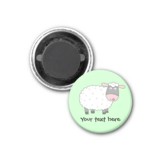 Daisy Sheep 3 Cm Round Magnet
