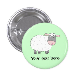 Daisy Sheep 3 Cm Round Badge