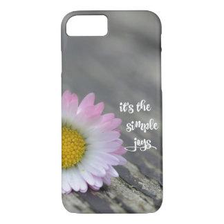 Daisy Simple Joys Quote iPhone 7 Case