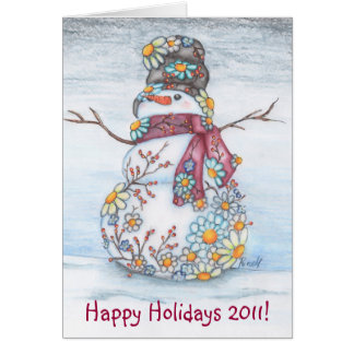 Daisy Snowman 2011 Greeting Card