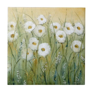 Daisy Spring I Small Square Tile